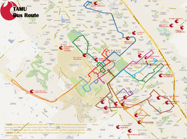 TAMU Bus Routes - Map of us routes