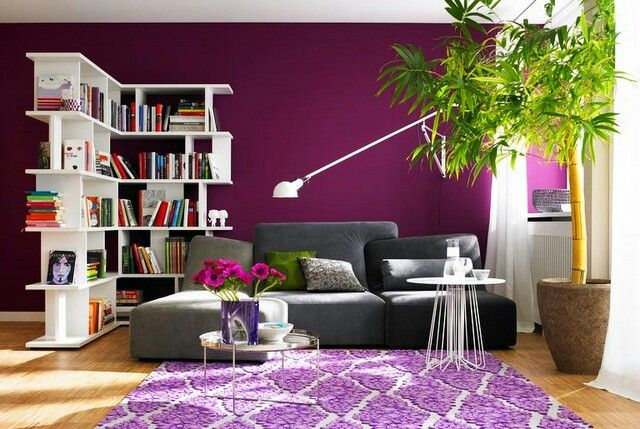 magenta-accent-wall